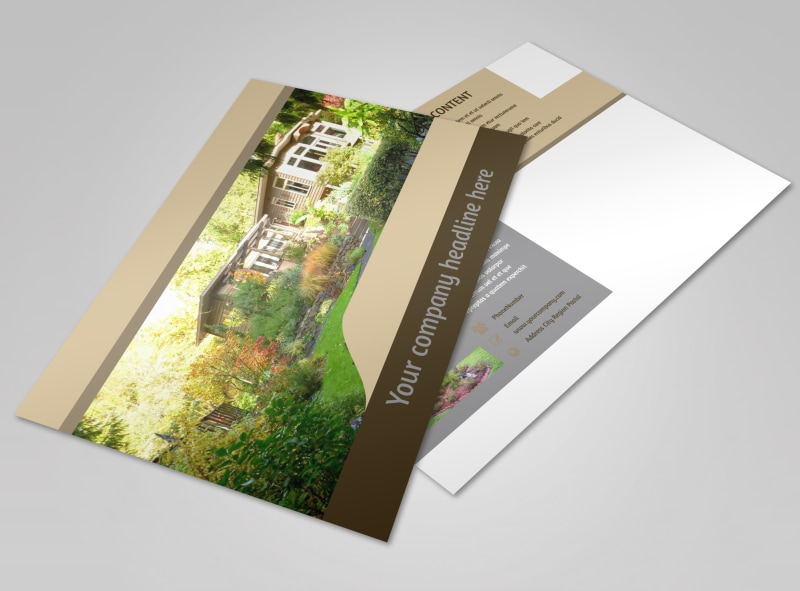 Landscape Design Postcard Template Preview 4