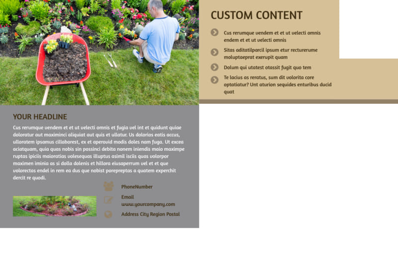 Landscape Design Postcard Template Preview 3