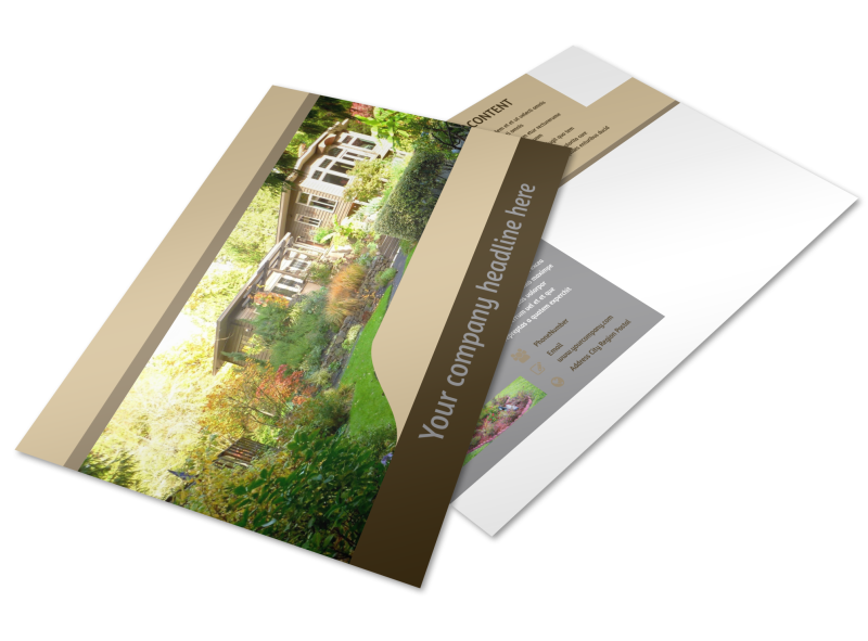 Landscape Design Postcard Template Preview 1