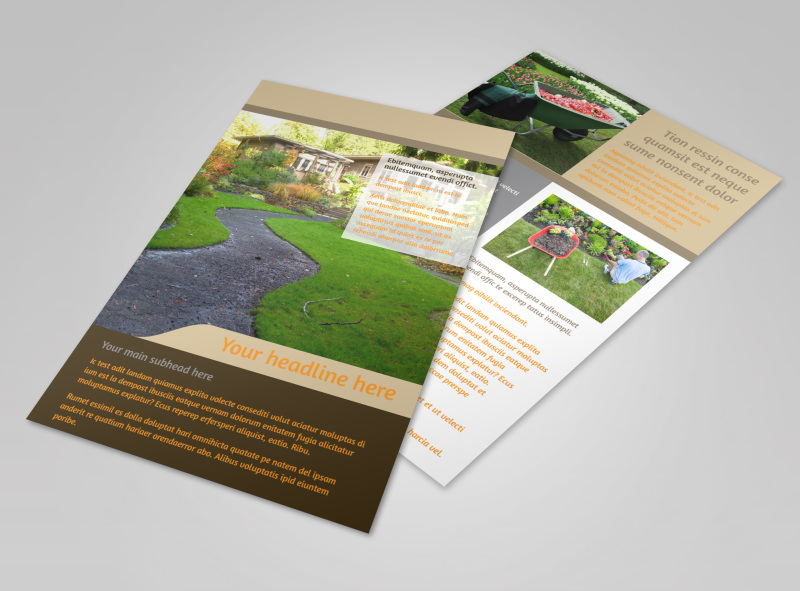 Landscape Design Flyer Template 3