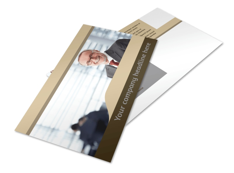 Criminal Law Defense Postcard Template 2