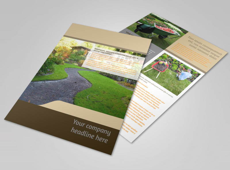 Landscape Design Flyer Template