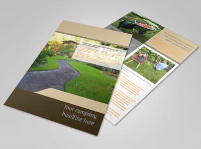 Landscape Design Flyer Template preview