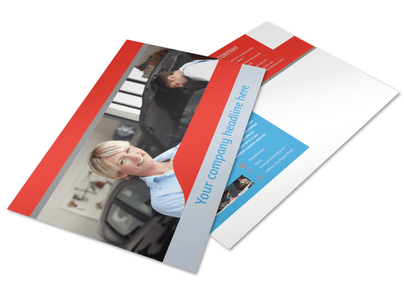 Vehicle Oil Change Postcard Template Preview 4