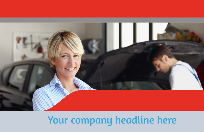 Vehicle Oil Change Postcard Template Preview 2