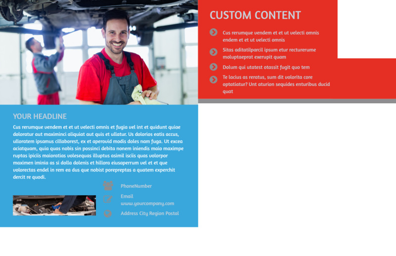 Vehicle Oil Change Postcard Template Preview 3