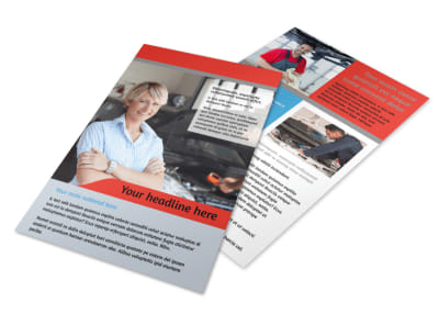 Vehicle Oil Change Flyer Template 3