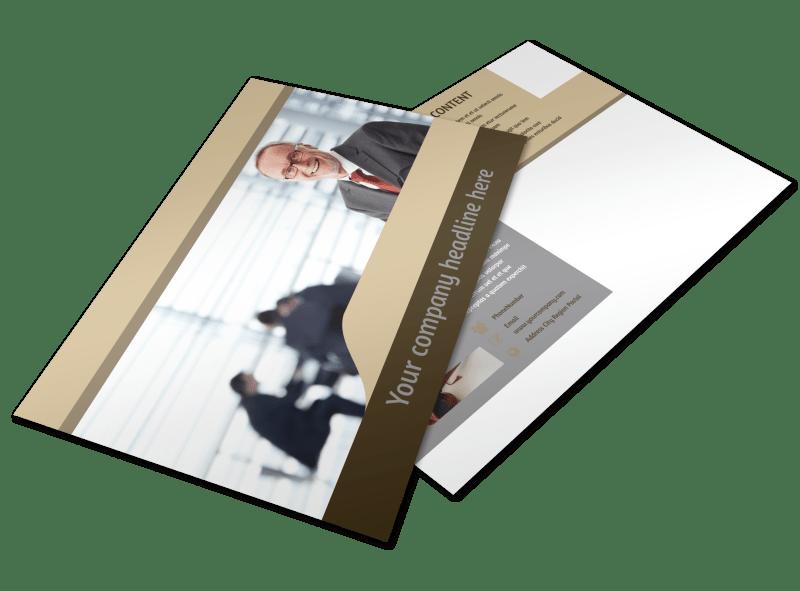 Criminal Law Defense Postcard Template Preview 1