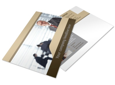 Criminal Law Defense Postcard Template