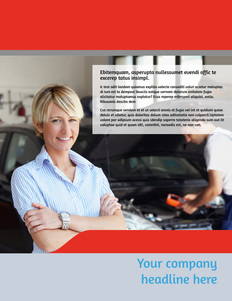 Vehicle Oil Change Flyer Template Preview 2