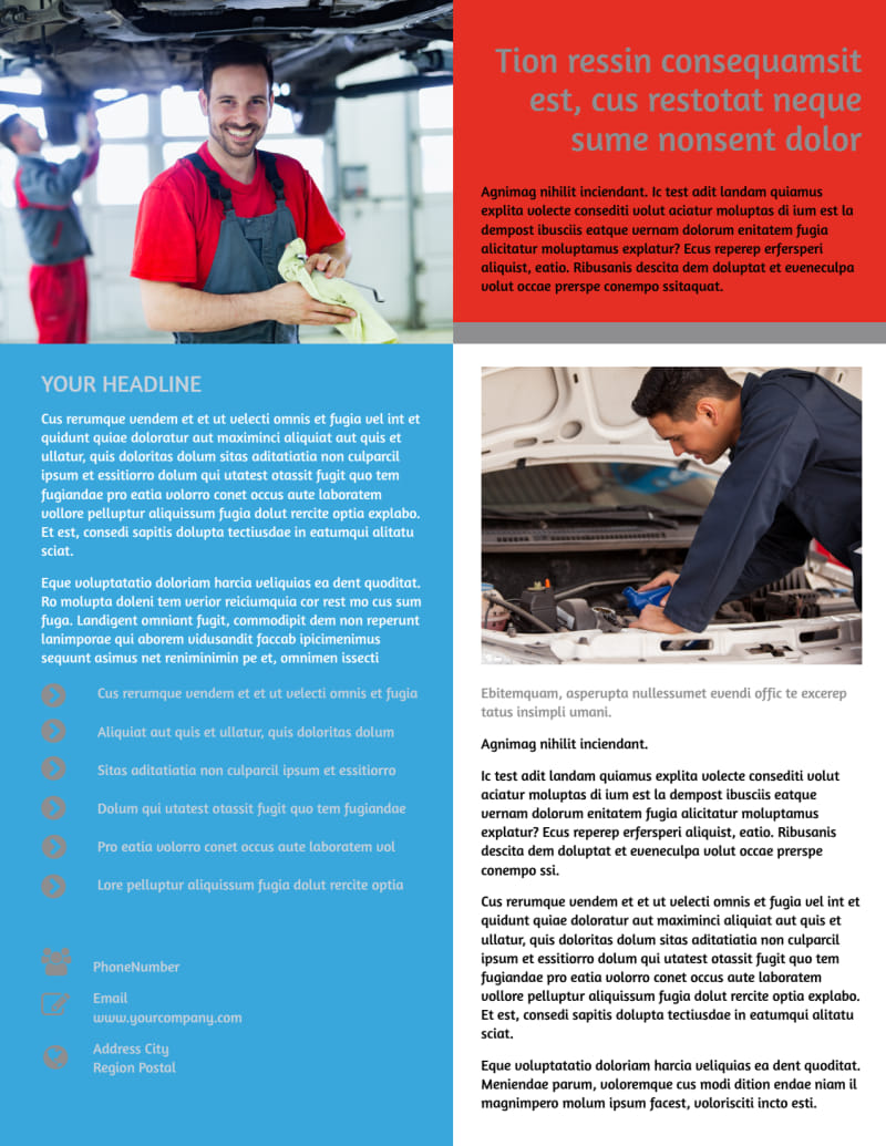 Vehicle Oil Change Flyer Template Preview 3