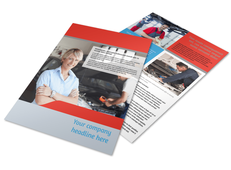 Vehicle Oil Change Flyer Template Preview 1