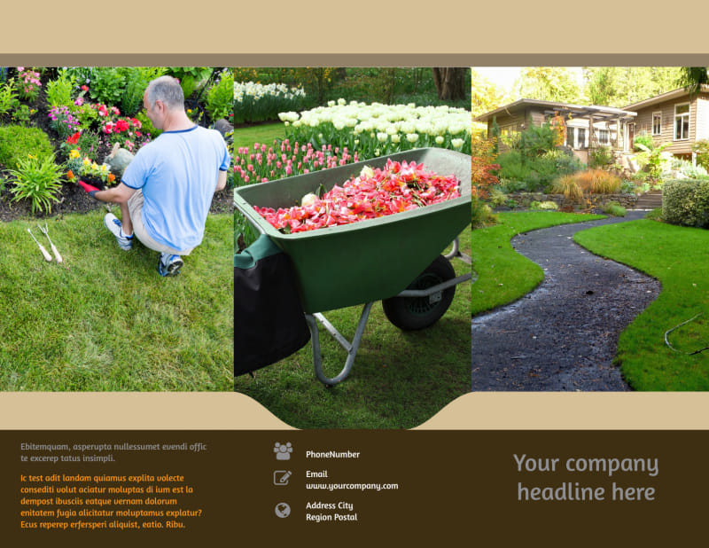 Landscape Design Brochure Template Preview 2