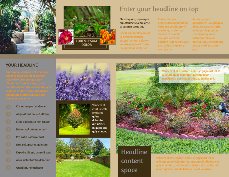Landscape Design Brochure Template Preview 3
