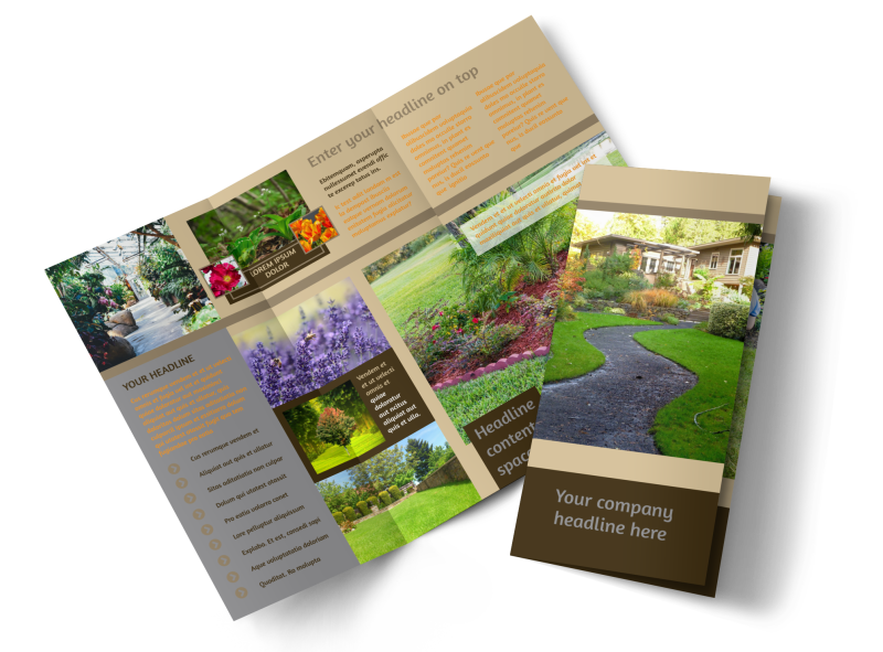 Landscape Design Brochure Template Preview 1