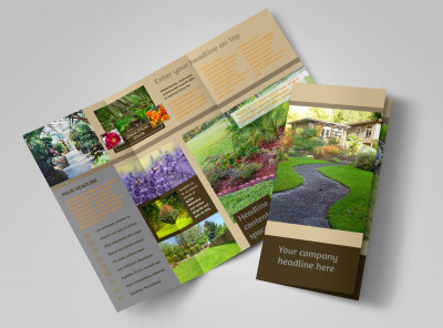 Landscape Design Tri Fold Brochure Template preview