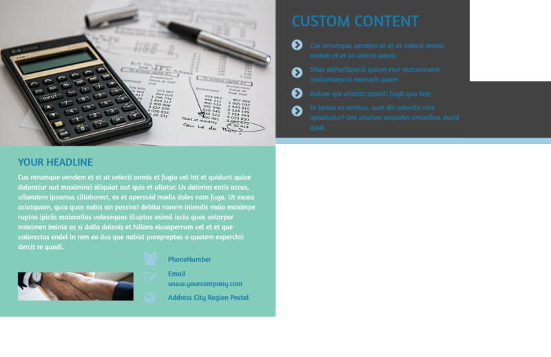 Bookkeeping Postcard Template Preview 3