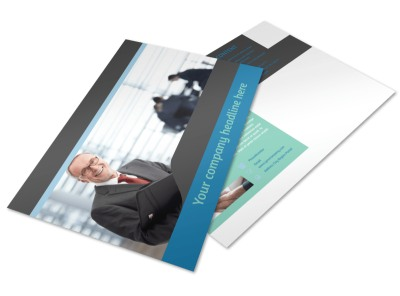 Bookkeeping Postcard Template preview