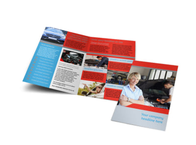 Vehicle Oil Change Bi-Fold Brochure Template