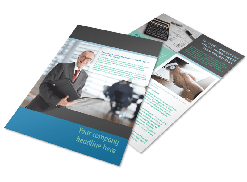 Bookkeeping Flyer Template Preview 4