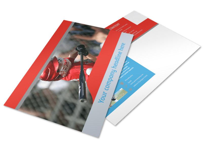 Top Swing Baseball Camp Postcard Template Preview 4
