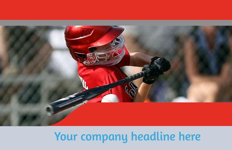 Top Swing Baseball Camp Postcard Template Preview 2