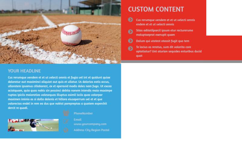 Top Swing Baseball Camp Postcard Template Preview 3