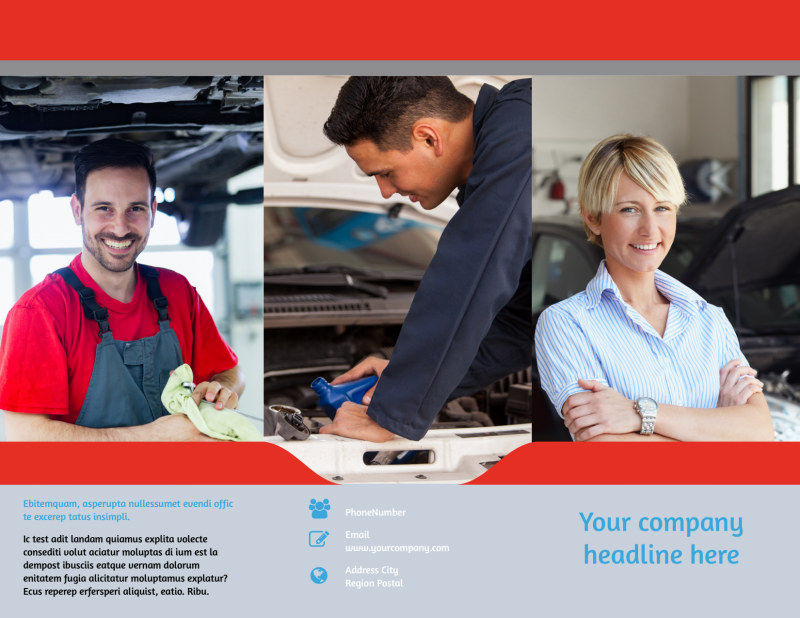 Vehicle Oil Change Brochure Template Preview 2