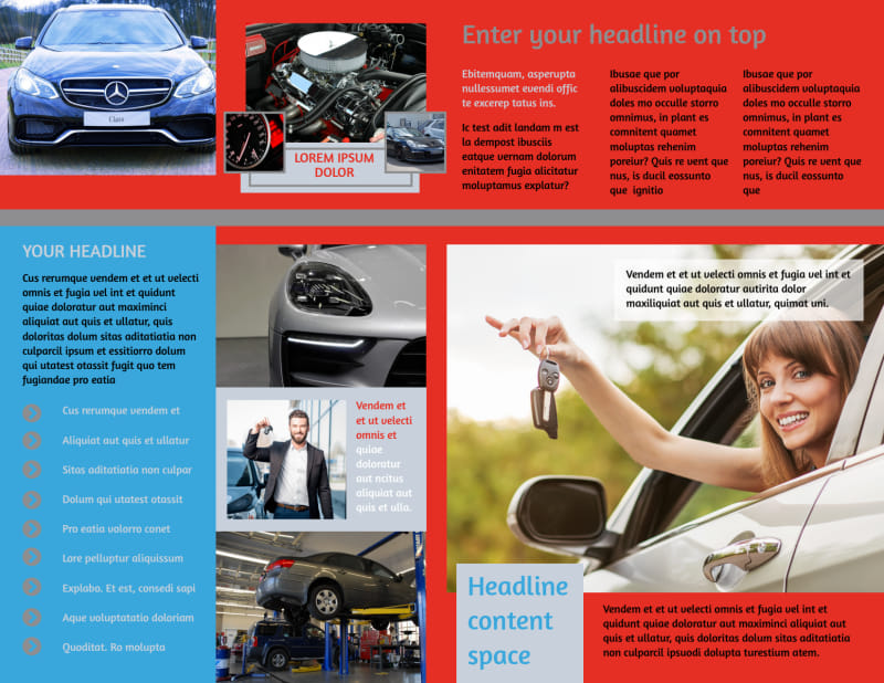 Vehicle Oil Change Brochure Template Preview 3