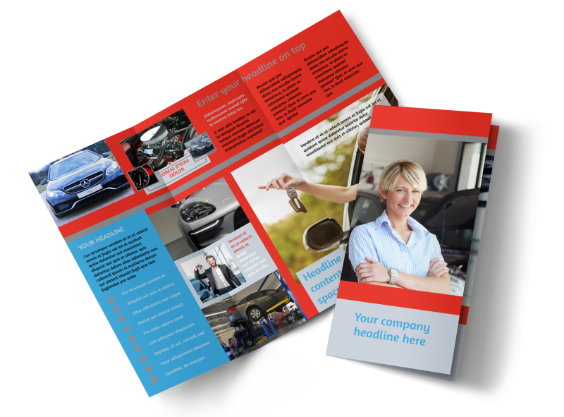 Vehicle Oil Change Brochure Template Preview 1