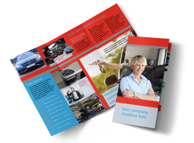 Vehicle Oil Change Tri-Fold Brochure Template