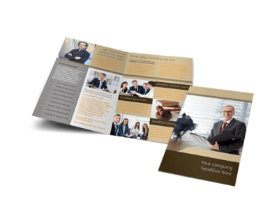 Criminal Law Defense Bi-Fold Brochure Template preview