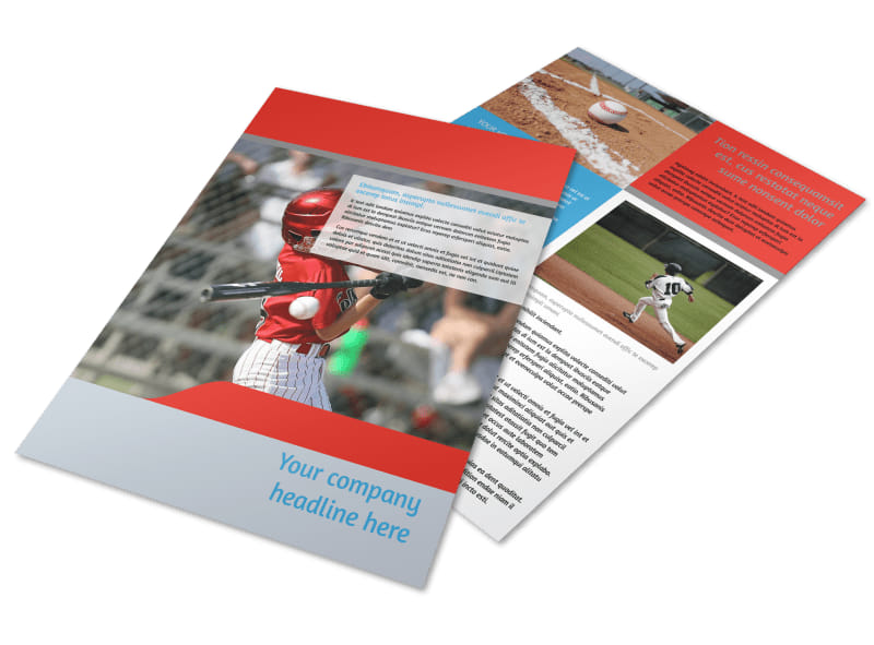 Top Swing Baseball Camp Flyer Template  Mycreativeshop