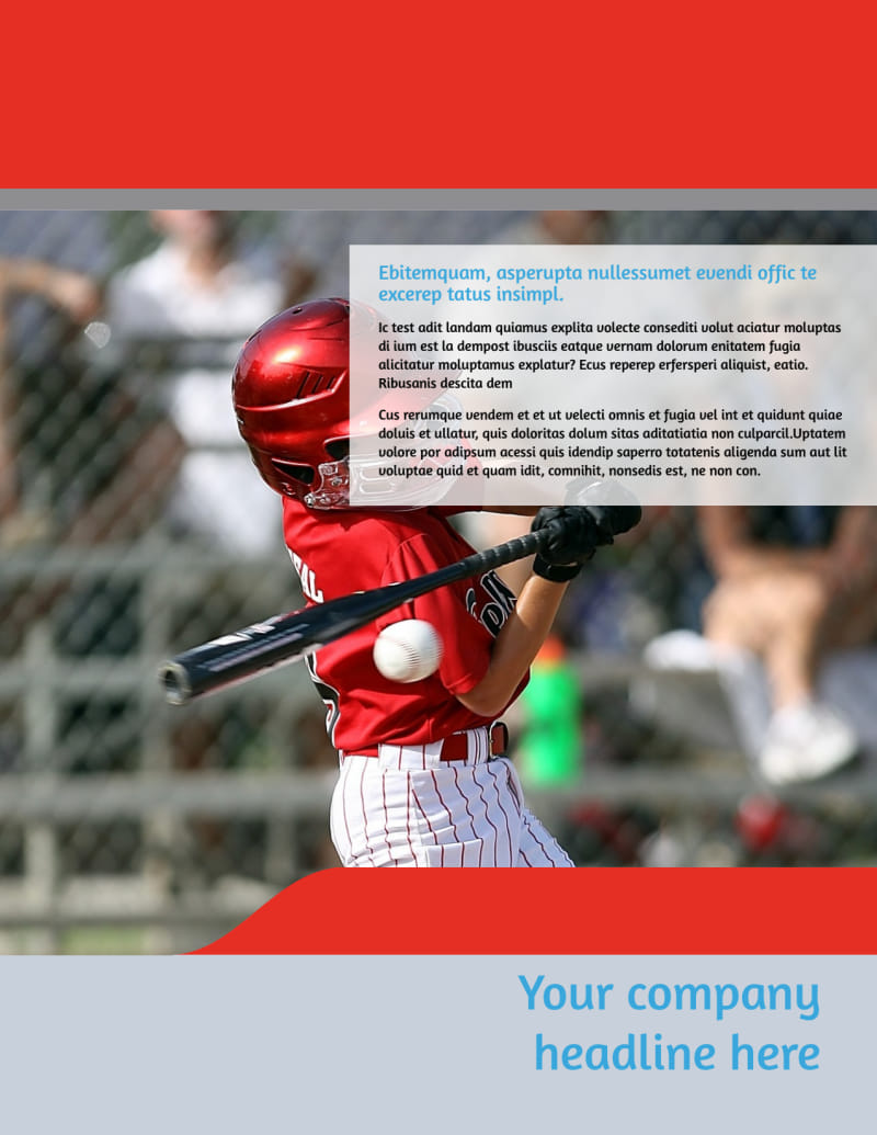 Top Swing Baseball Camp Flyer Template Preview 2