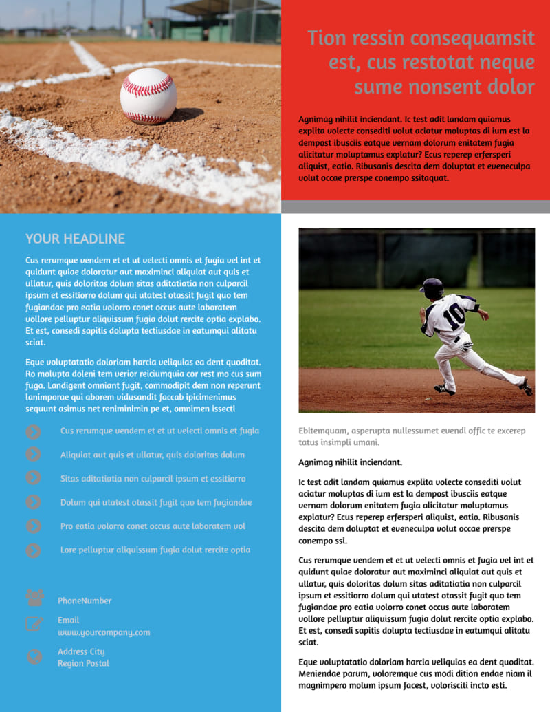 Top Swing Baseball Camp Flyer Template Preview 3