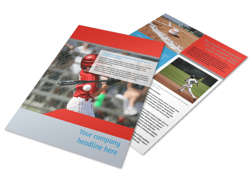 Top Swing Baseball Camp Flyer Template Preview 1