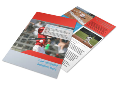 Top Swing Baseball Camp Flyer Template preview