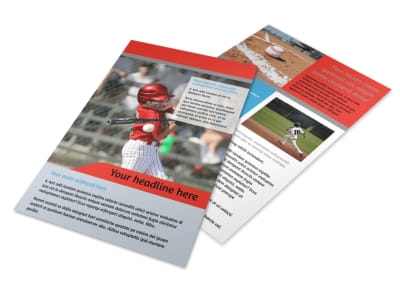 Top Swing Baseball Camp Flyer Template 3