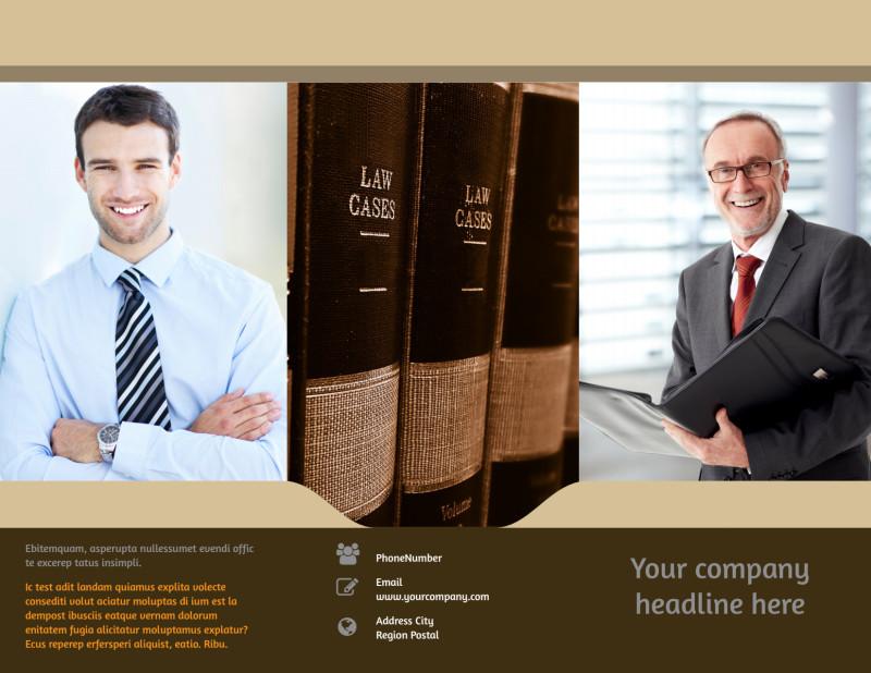 Criminal Law Defense Brochure Template Preview 2