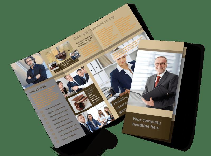 Criminal Law Defense Brochure Template Preview 1