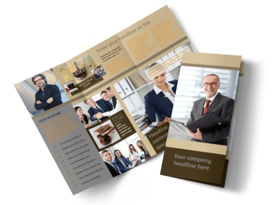 Criminal Law Defense Tri-Fold Brochure Template preview