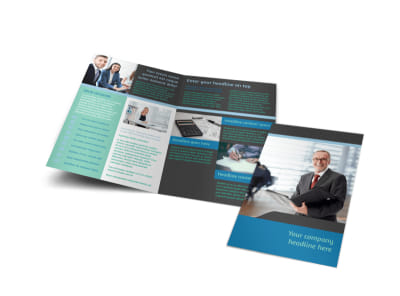 Bookkeeping Bi-Fold Brochure Template