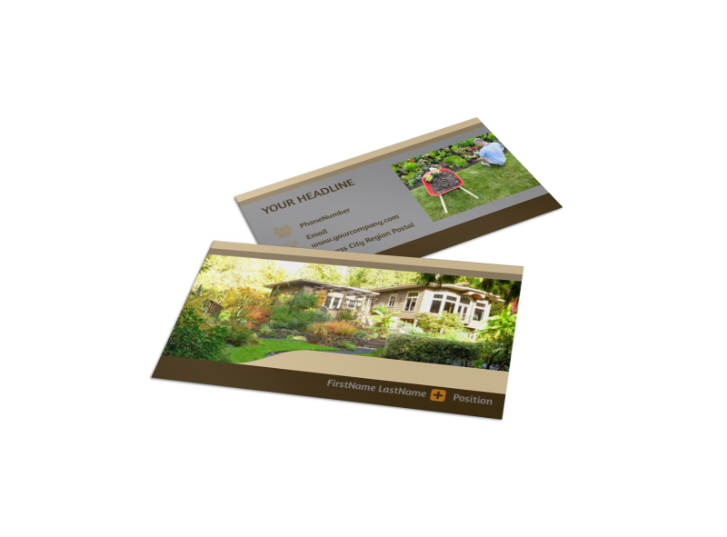 Landscape Design Business Card Template Preview 1