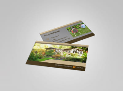 Landscape Design Business Card Template preview