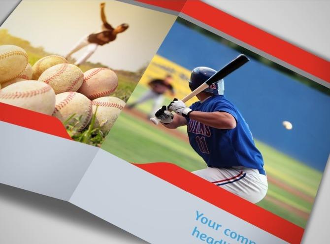 baseball brochure template - baseball sports camp bi fold brochure template metric