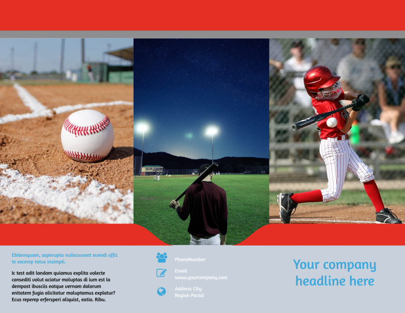 Top Swing Baseball Camp Brochure Template Preview 2