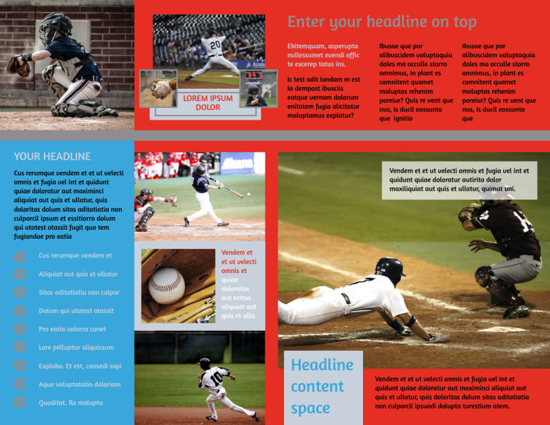 Top Swing Baseball Camp Brochure Template Preview 3