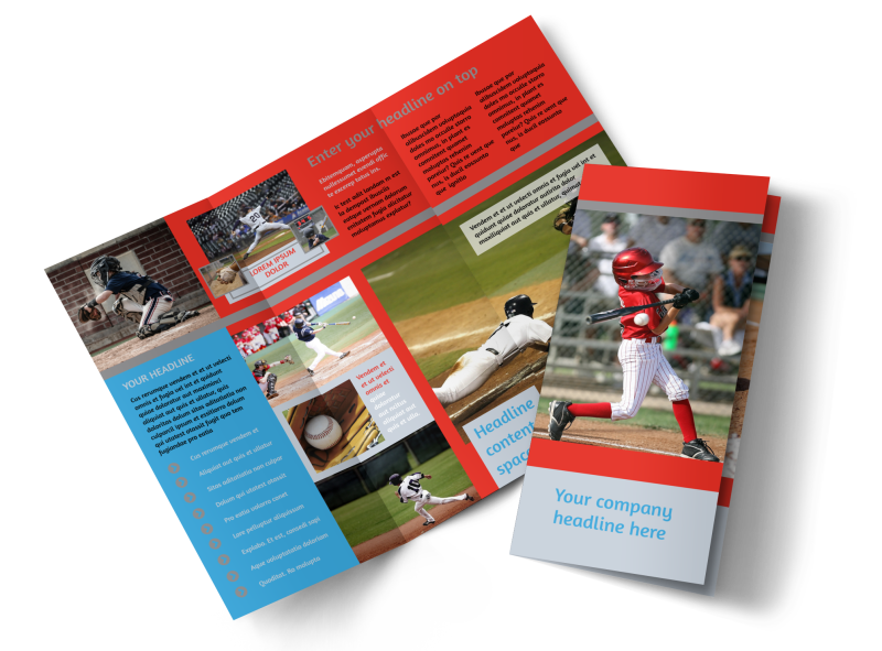 Top Swing Baseball Camp Brochure Template Preview 1