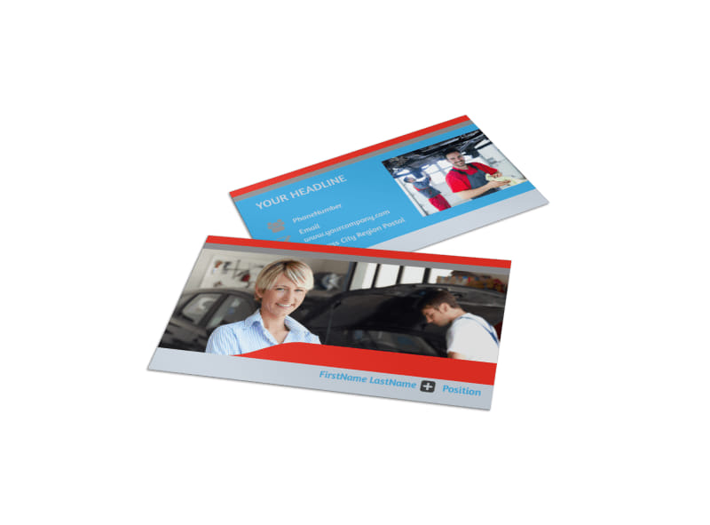 Vehicle Oil Change Business Card Template