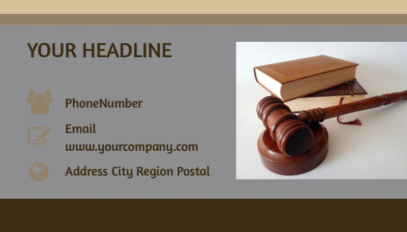 Criminal Law Defense Business Card Template Preview 3